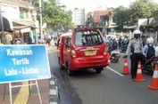 Jalan Depan Stasiun Lenteng Agung Sering Macet, Dishub Pasang 'Traffic Cone' Pembatas