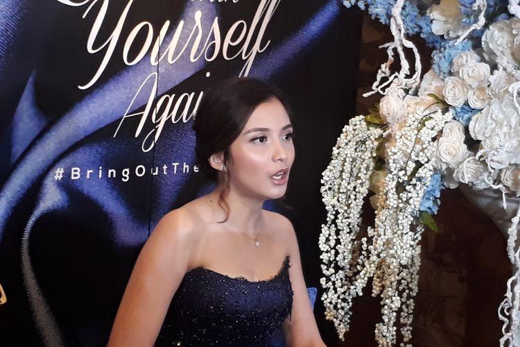Chelsea Olivia dijumpai wartawan di Lamoda, Plaza Indonesia, Jakarta Pusat, Kamis (14/9/2017).
