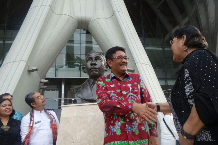 Gubernur DKI Jakarta Djarot Saiful Hidayat saat meresmikan revitalisasi Taman Ismail Marzuki (TIM), Kamis (12/10/2017).