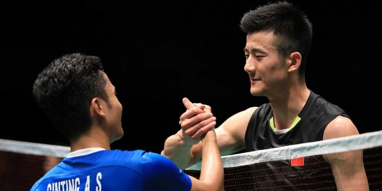 Anthony Ginting dan Chen Long