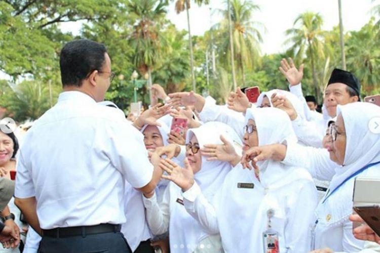 Gubernur DKI Jakarta, Anies Baswedan memberikan pengarahan kepada 721 kepala sekolah di Balai Kota DKI Jakarta (12/9/2018).