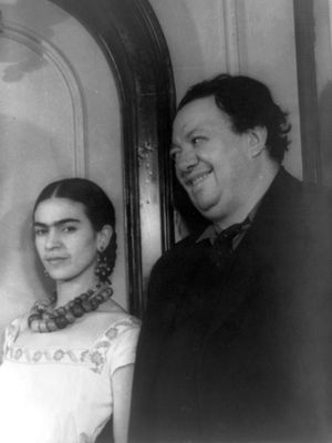 Diego Rivera dengan Frida Kahlo. (Congress Library, Washington DC)