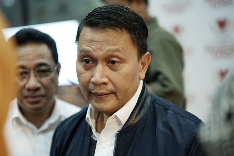 Ketua DPP PKS Mardani Ali Sera saat ditemui di media center pasangan Prabowo-Sandiaga, Jakarta Selatan, Jumat (10/5/2019).