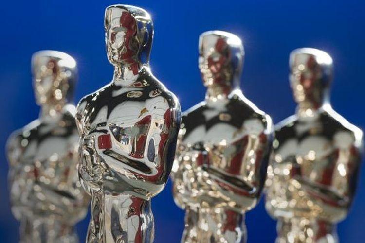 Piala Oscar dipamerkan di Polich Tallix Foundary di Rock Tavern, New York, AS, pada 13 Januari 2017.