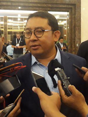 Wakil Ketua Umum Partai Gerindra Fadli Zon di Hotel Sultan, Jakarta, Minggu  (17/2/2019).
