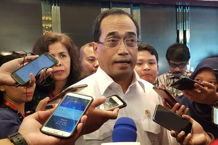 Menteri Perhubungan Budi Karya Sumadi di Semarang, Selasa (12/3/2019)
