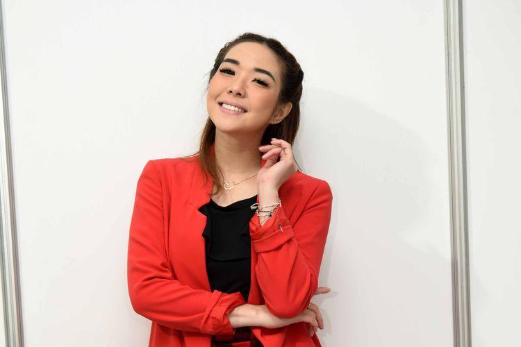 Penyanyi yang juga artis peran Gisel Anastasia saat ditemui di kawasan Rasuna Said, Kuningan, Jakarta Selatan, Selasa (7/5/2019).