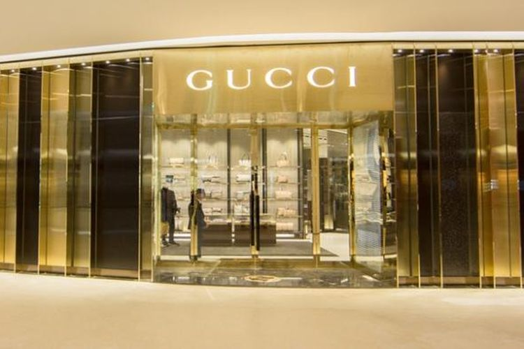 Ilustrasi gerai Gucci.
