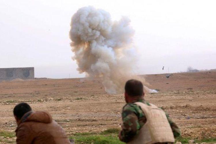 Ilustrasi ledakan bom.
