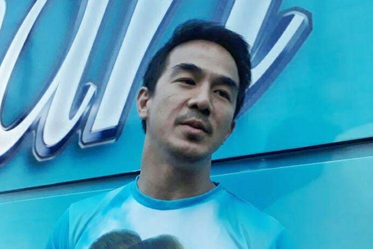 Joe Taslim dijumpai di Parkir Timur Senayan, Gelora Bung Karno, Jakarta Pusat, pada Sabtu (17/6/2017).