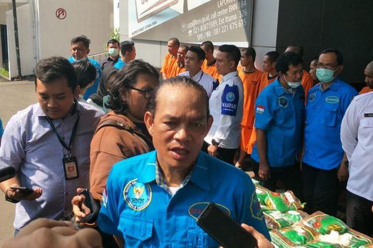 Deputi Bidang Pemberantasa Badan Narkotika Nasional Irjen Arman Depari di Kantor BNN, Cawang, Jakarta Timur, Selasa (23/7/2019).