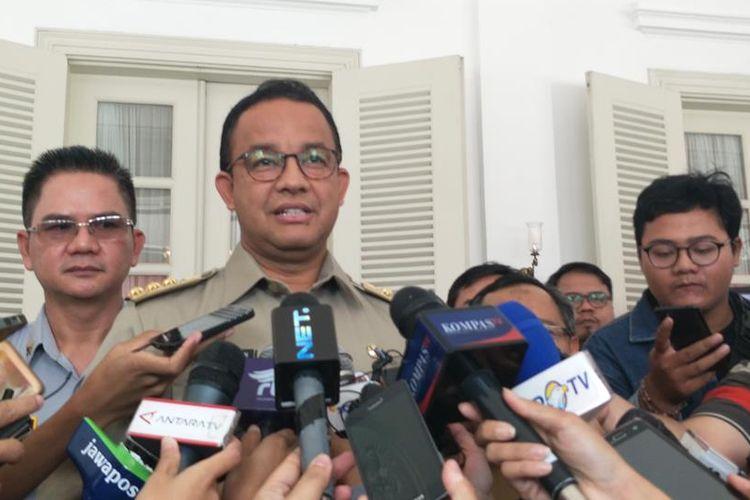 Gubernur DKI Jakarta Anies Baswedan di Balai Kota DKI Jakarta, Jalan Medan Merdeka Selatan, Selasa (13/8/2019).