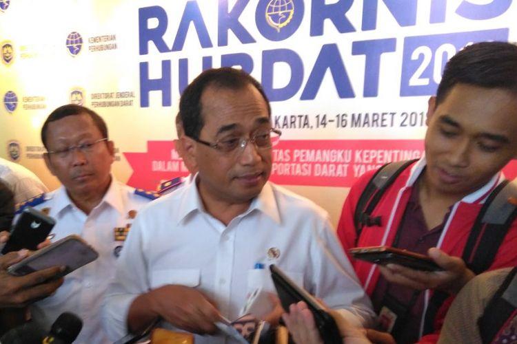 Menhub Budi Karya Sumadi dalam Rakornas Perhubungan Darat di Jakarta, Rabu (14/3/2018)
