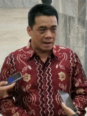 Ketua DPP Partai Gerindra Ahmad Riza Patria saat ditemui di Kompleks Parlemen, Senayan, Jakarta, Jumat (12/1/2018).