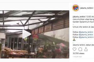 Hujan dan Angin Kencang, Atap Rasuna Garden Food Street Lepas