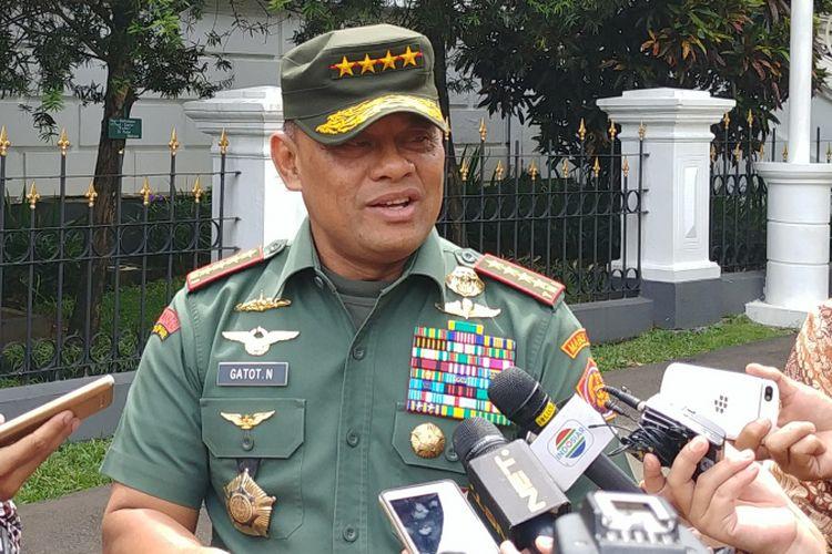 Panglima TNI Jenderal Gatot Nurmantyo di Istana Bogor, Selasa (5/12/2017).
