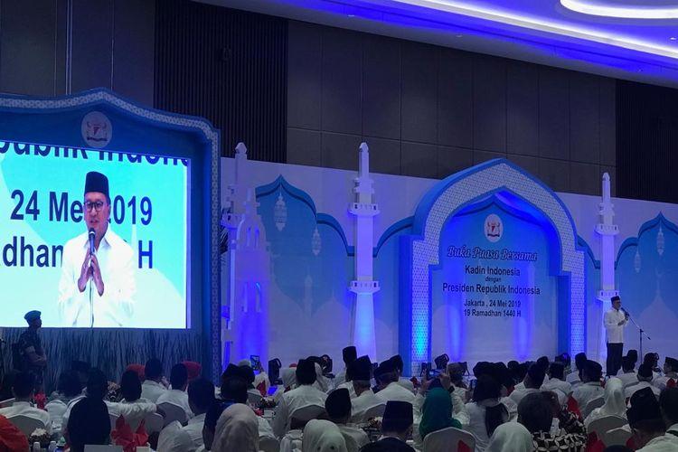 Ketua Kamar Dagang Industri Indonesia (Kadin) Roesan Roeslani di Jakarta, Jumat (24/5/2019).