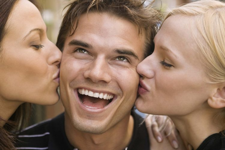 Ilustrasi pria bahagia