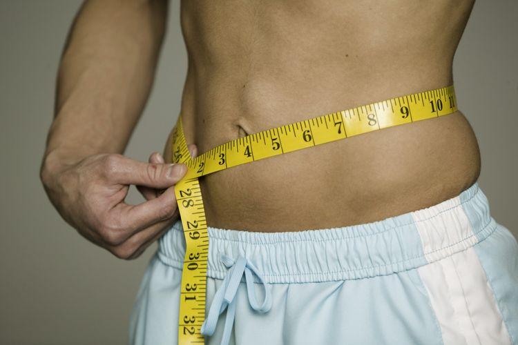 Ilustrasi mengukur lingkar perut