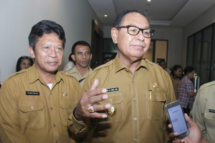 Wakil Gubernur NTT Josef Nae Soi, saat diwawancarai di Kupang, Rabu (8/5/2019)