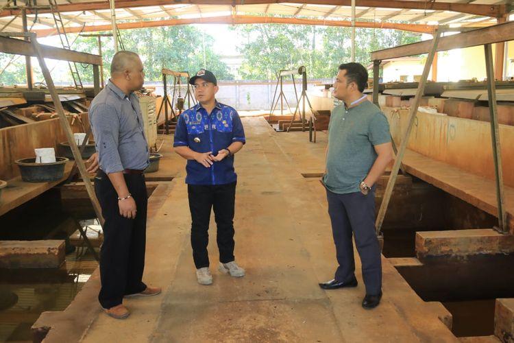 Peninjauan smelter oleh Wali Kota Pangkal Pinang, Maulan Akli di Ketapang, Rabu (26/6/2019).