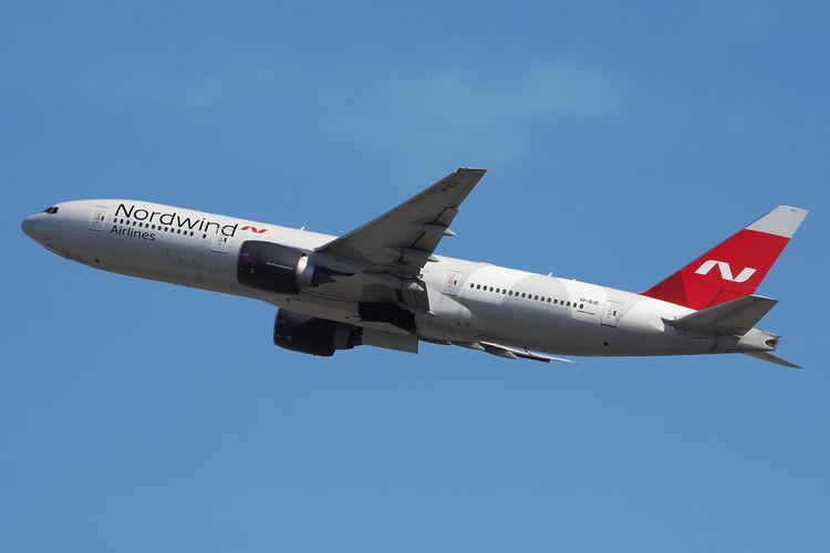 Ilustrasi pesawat maskapai NordWind Airlines.