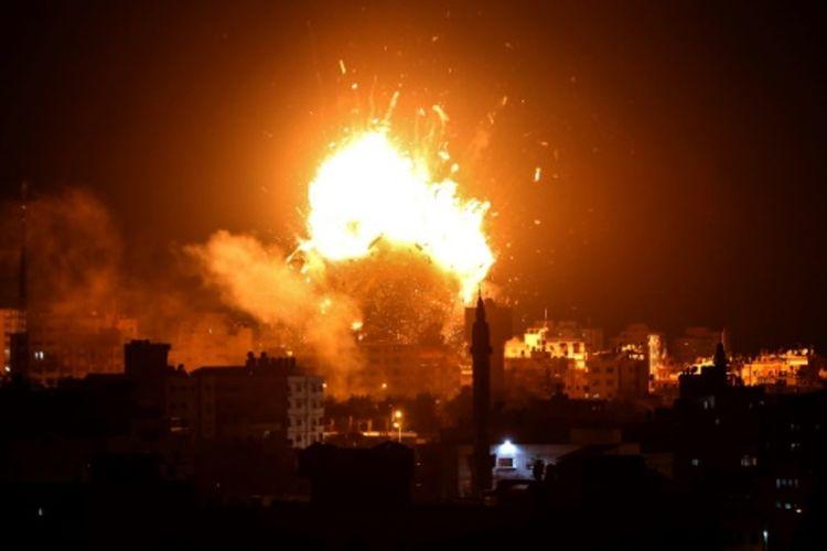 Serangan Udara Israel Hancurkan Gedung Hamas TV di Gaza