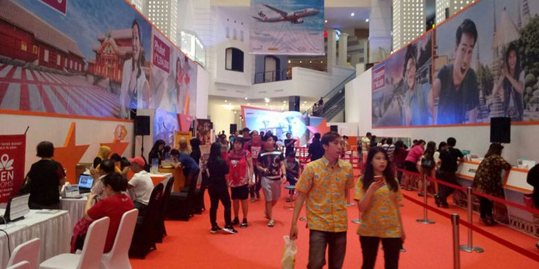 Suasana Jetstar Travel Fair 2017 hari kedua, Sabtu (9/9/2017) di Mall of Indonesia. Jetstar Travel Fair 2017 berlangsung 8-10 September.