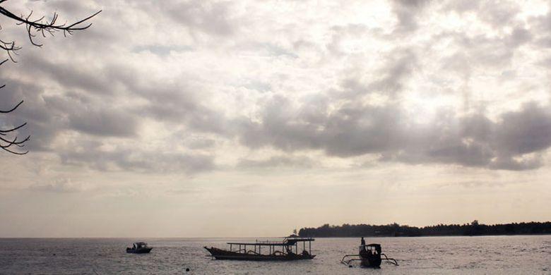 Gili Trawangan di Pulau Lombok, Nusa Tenggara Barat.