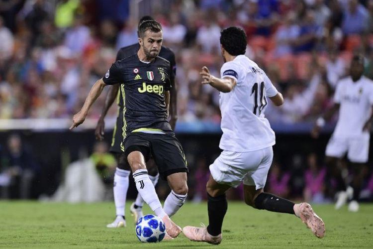 Hasil Valencia Vs Juventus, Ronaldo Kartu Merah, Pjanic Borong 2 Gol