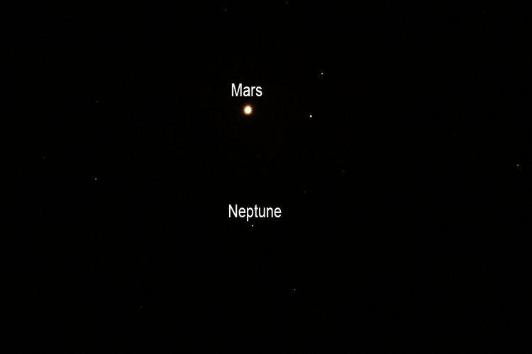 Muncul 200 Juta Tahun Sekali, Mars Sedang Berdampingan dengan Neptunus