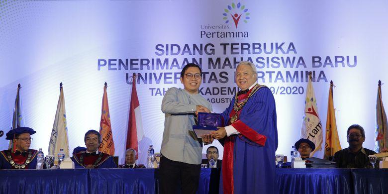 Universitas Pertamina menggelar Sidang Senat Terbuka Penerimaan Mahasiswa Baru tahun ajaran 2019/2020 di Gelangang Olah Raga Pertamina, Jakarta (13/8/2019) guna menyambut 1.471 mahasiswa baru.