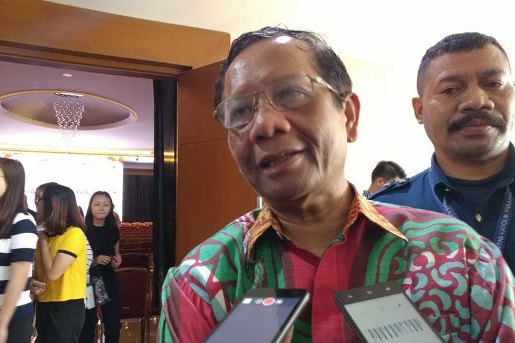 Pakar politik sekaligus Ketua Gerakan Suluh Kebangsaan, Mahfud MD.
