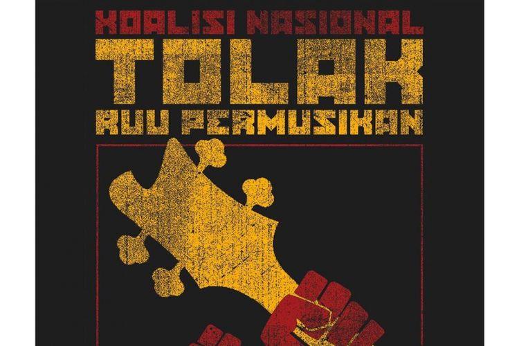Poster penolakan para artis musik terhadap RUU Permusikan.