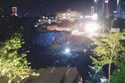 Jalan Gubeng di Surabaya Tiba-tiba Ambles Sedalam Lebih dari 15 Meter