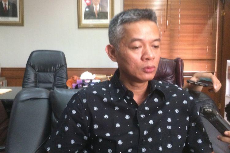Komisioner Komisi Pemilihan Umum (KPU) Wahyu Setiawan di Kantor KPU RI, Jakarta Pusat, Selasa (2/10/2018).