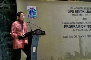 Wajah Semringah Sandi Saat Pengembang REI Dukung Program DP 0 Persen