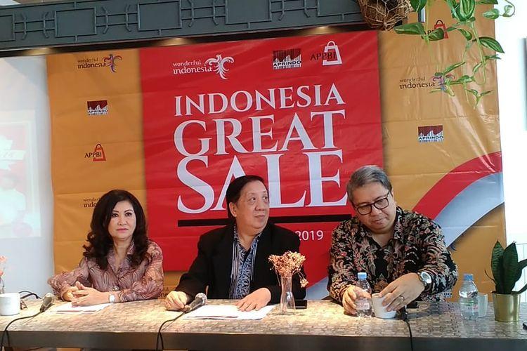 Konferensi pers soal Indonesia Great Sale di Jakarta, Kamis (11/7/2019).