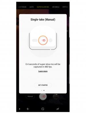 Tangkapan layar pembaruan fitur slow-motion Galaxy S9 dan S9 Plus