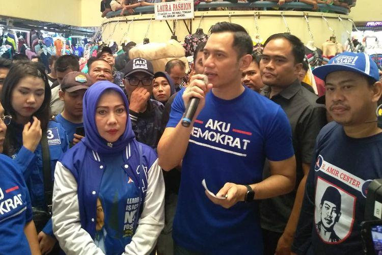 Agus Harimurti Yudhoyono ketika ditemui di pasar Cipulir, Jakarta Selatan, Kamis (14/3/2019).