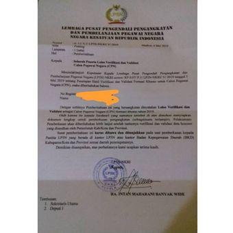 Surat palsu mengatasnamakan LP5N