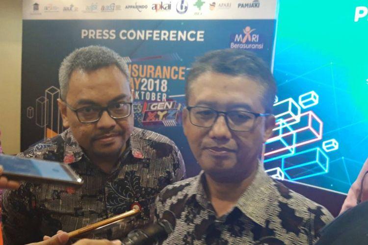 Deputi Komisioner Pengawas Industri Keuangan Non Bank (IKNB) II OJK M Ichsanuddin ketika ditemui awak media, Kamis (18/10/2018).