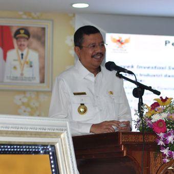 Gubernur Sumatera Utara, Tengku Erry Nuradi memberikan pemaparan di hadapan para diplomat muda Kemenlu RI, Rabu (21/3/2018).