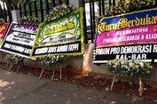 Karangan Bunga Dukacita Kerusuhan 22 Mei Bersandar di Wahid Hasyim