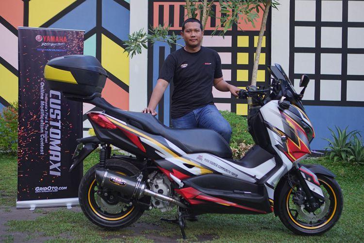 XMAX Eldo Harpena, pemenang CustoMAXI Banjarmasin