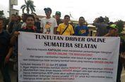 Gelar Demo, Puluhan Pengemudi Taksi 'Online' Tuntut Perkembangan Hilangnya Seorang 'Driver'
