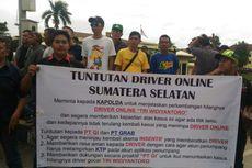 Gelar Demo, Puluhan Pengemudi Taksi