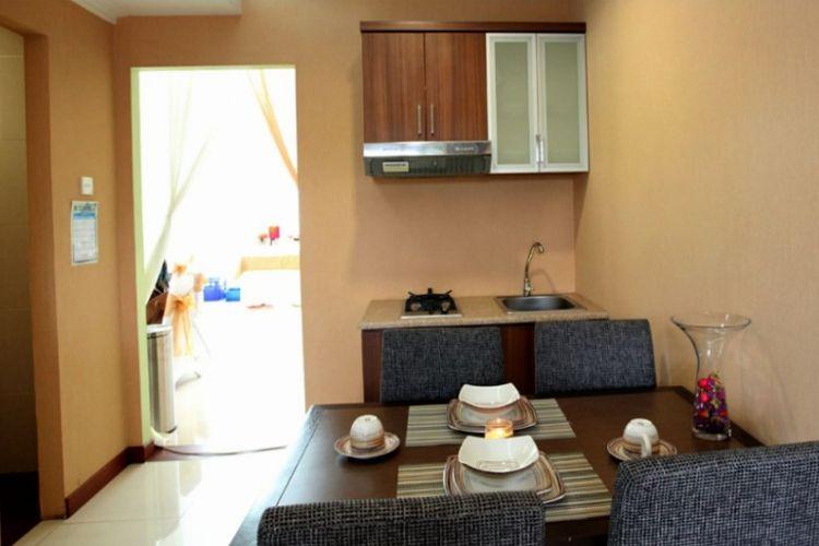 Contoh dapur dan ruang makan rumah DP 0 rupiah tipe 36.