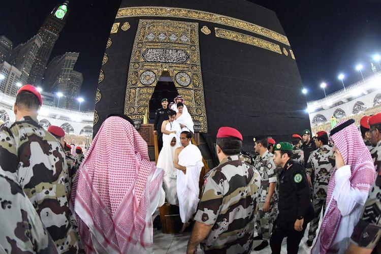 Presiden Joko Widodo saat menunaikan ibadah umroh di Makkah, Senin (15/4/2019) waktu setempat.
