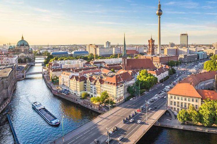 Kota Berlin di Jerman.